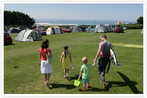 Campsites in Devon near beach Ruda