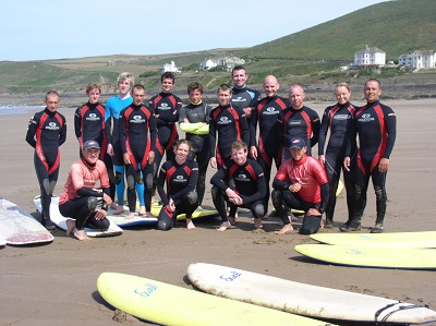 Surfing in North Devon Croyde