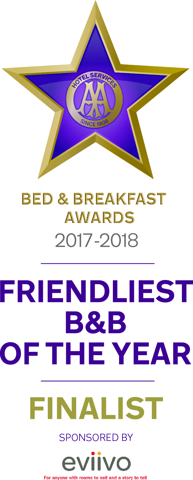AA Finalist Friendliest B&B if the Year
