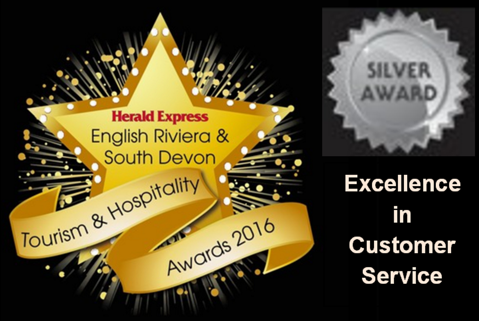 Herald Express Tourism & Hospitality SilverAward 2016 for Excellence in Customer Service