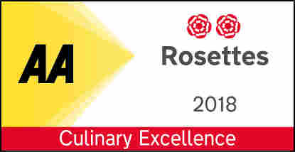 AA 2 Rosettes 2018 Culinary Excellence