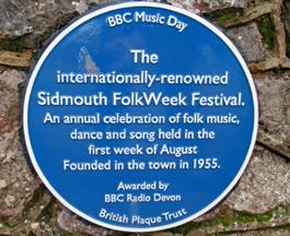 Sidmouth's blue plaques