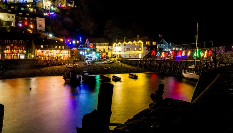 Christmas Lights in Clovelly