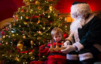 Father Christmas Visits Knightshayes