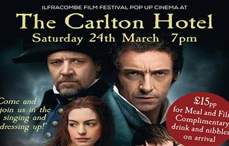 Ilfracombe Film Festival pop up cinema at The Carlton