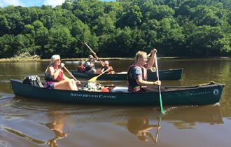 Bushcraft and canoe on the River Dart