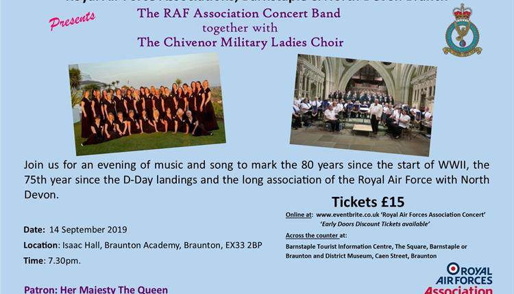 RAF Association Band and Chivenor Military Ladies Choir in Concert