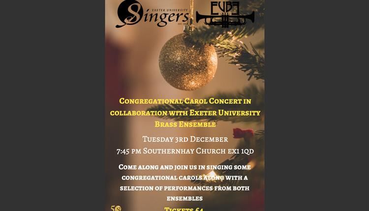 Exeter University Singers Congregational Carol Concert in Collaboration with Exeter University Brass Ensemble