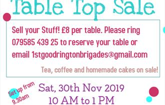Table Top Sale Fundraiser Event