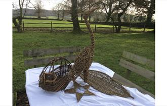 Willow Weaving at Authers Cottage