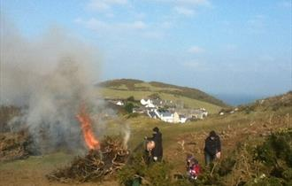 National Trust Mortehoe Family Volunteering Day