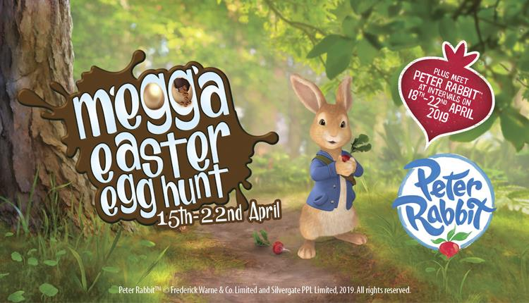 Megga Easter Egg Hunt - Plus meet Peter Rabbit at Crealy