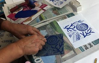 Lino Printing Cards & Pictures